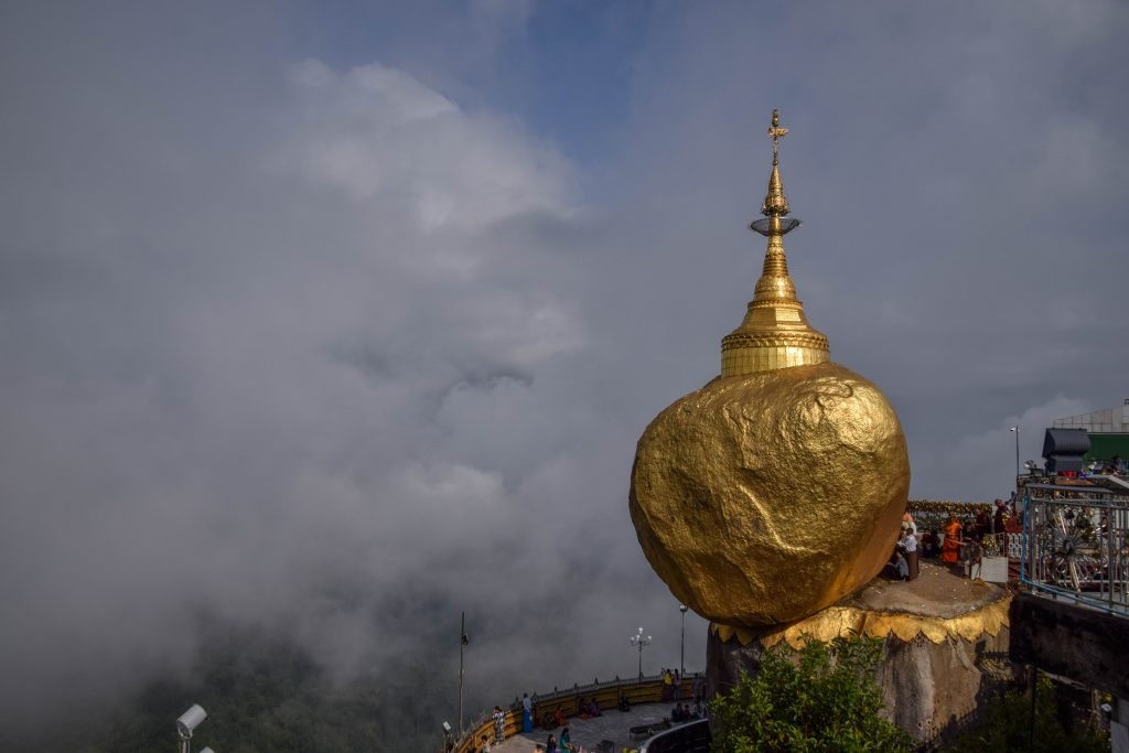 Le Golden Rock, et son cheveu de Bouddha