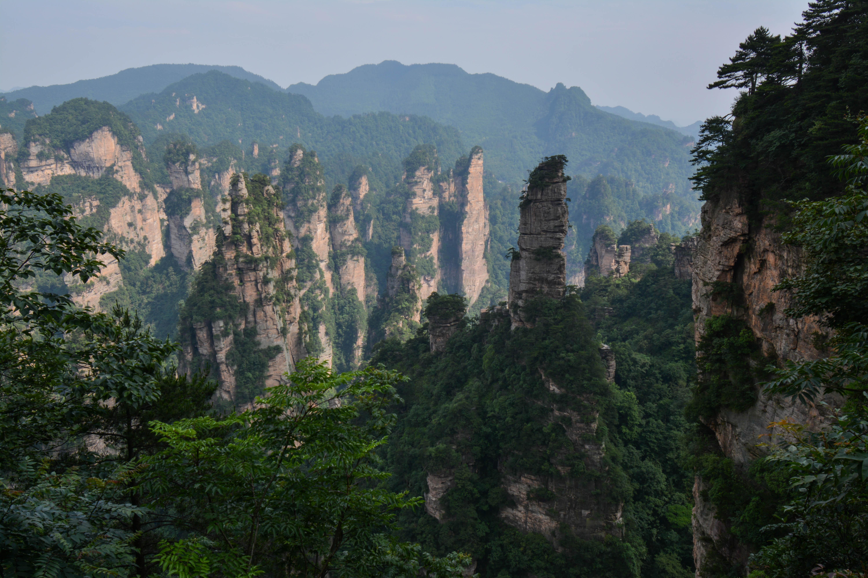 Les montagnes de Zhangjiaje